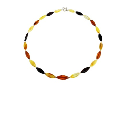 Healing Amber Necklace with Silver Findings