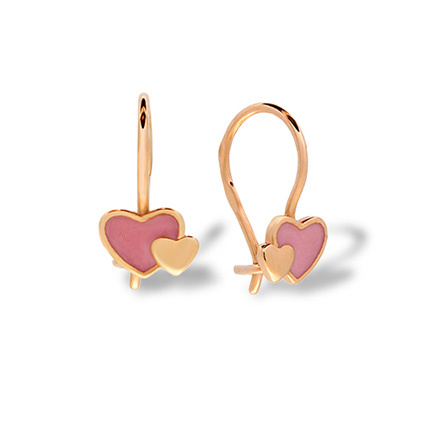 Hypoallergenic gold kids earrings