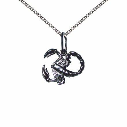Scorpio Silver Sculpture Pendant. October 24-November 22