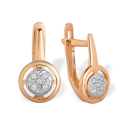 Petite Leverback Earrings. 585 (14K) Rose Gold