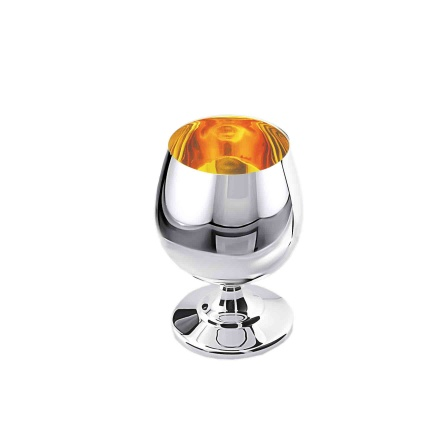 50ml Polished Silver Cognac Snifter. Hypoallergenic Antibacterial 925 Silver
