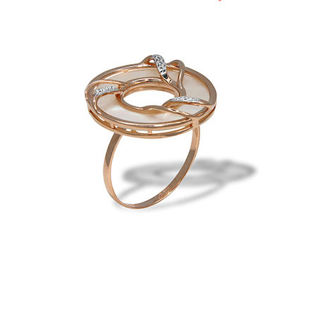 Cocktail gold ring
