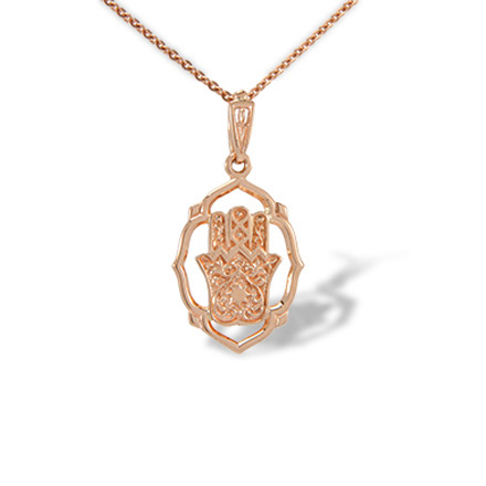 Jewish muslim catholic pendants hamsa rose gold pendant hamsa pendant rose gold aloadofball Choice Image
