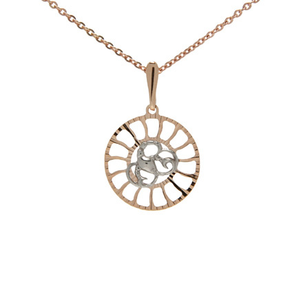 Sunburst-inspired Pendant 'Cancer Zodiac'. (June 22 - July 22)