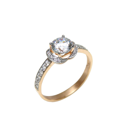 Six mm CZ solitaire ring