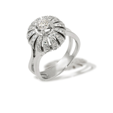"Eastern Motif Diamond Ring. ""The Art of Seduction"" Series"