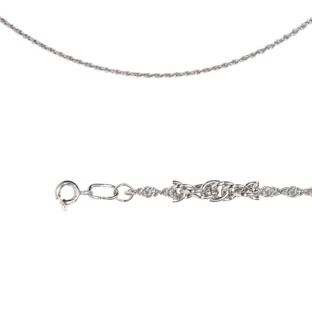 Rope-style Mesh Chain (.5mm Solid Wire). Diamond Cut Technique Over Sterling Silver