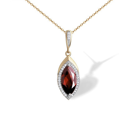 Gemstone rose gold pendants garnet marquise pendant golden flamingo marquise shaped garnet pendant aloadofball Image collections