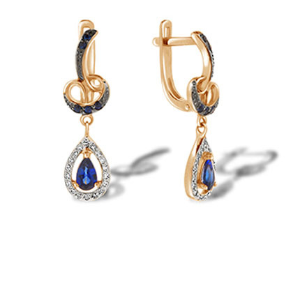 A Decadent Era-inspired Sapphire Earrings