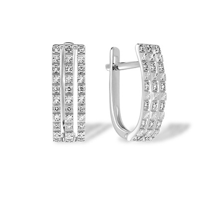 White gold leverback earrings