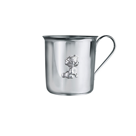 'A Puppy' Baby Silver Cup