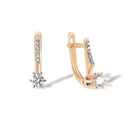 Cubic Zirconia Girl's Earrings