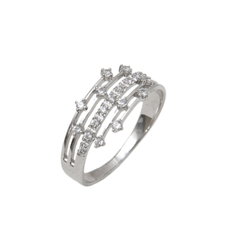 Futuristic Design White Gold Ring