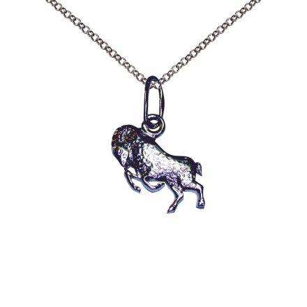Aries silver pendant
