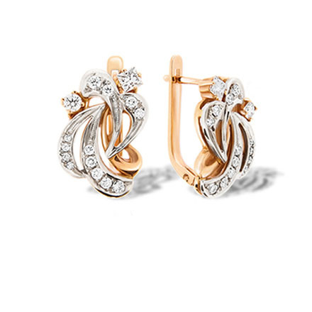 Vintage-inspired Certified Diamond Earrings