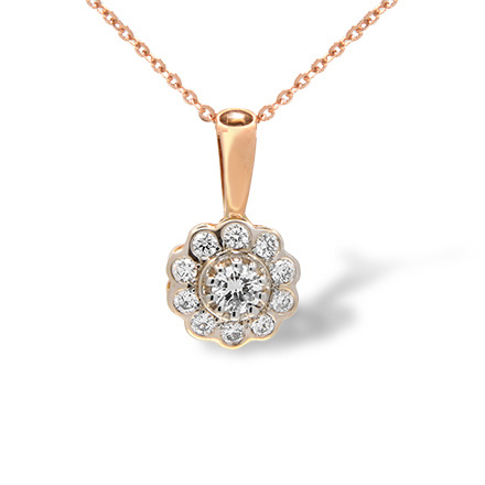 Diamond two-tone gold pendant