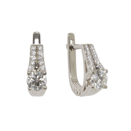 Swarovski CZ Leverback Earrings