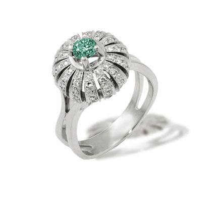 Certified emerald ring