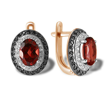 """Femme Fatale"" Garnet Earrings"