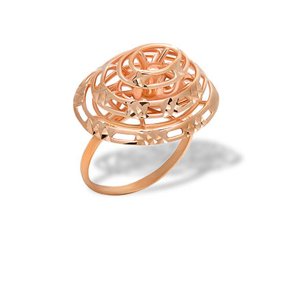 Designer rose gold ring
