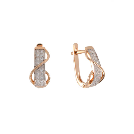 Rose gold sash earrings
