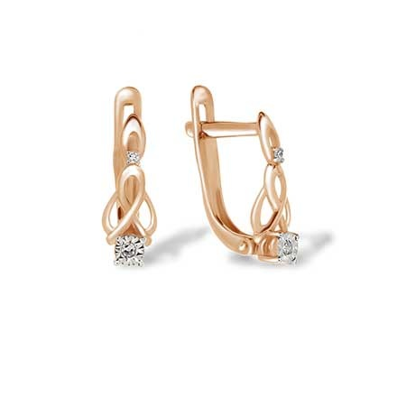 Illusion Set Double Diamond Earrings