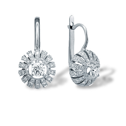 "Eastern Motif Diamond Earrings. ""The Art of Seduction"" Series"