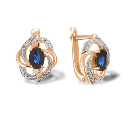 Sapphire diamond leverback earrings