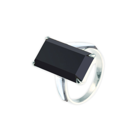 Metaphysical Black Onyx Silver Ring