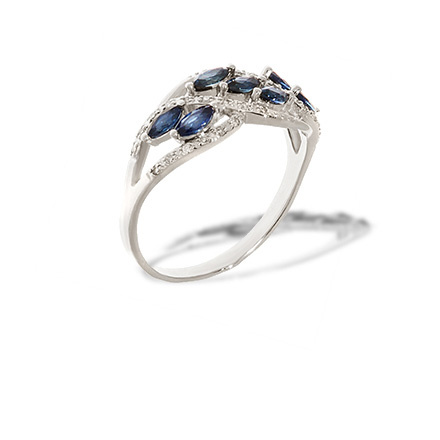 Marquise Sapphire and Diamond Ring