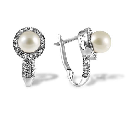 8mm white pearl earrings on sale