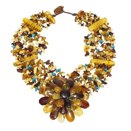 Amber & Turquoise Necklace