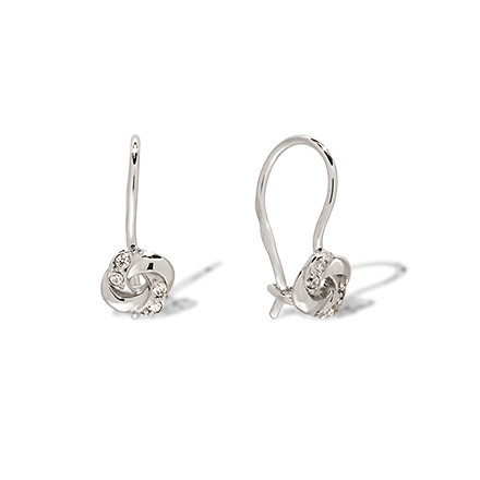 CZ White Gold Kids Earrings