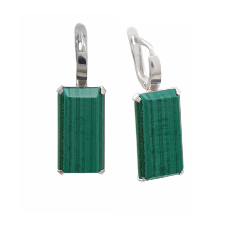 Metaphysical Malachite Earrings
