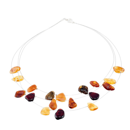 Necklace With Irregular Shaped Amber