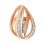 Swaying Diamond Teardrop-shaped Pendant in 585 Rose Gold. View 2