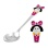 Baby Silver Spoon with a Girl in Pink. Hypoallergenic 925/999 Silver, Hot Enamel