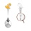 Child Silver Spoon 'Yellow Shade Puppy and Clock'. View 2
