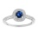 Sapphire and Diamond Open Gallery Engagement Ring. View 2