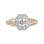Art Deco-inspired diamond ring made of 14kt rose and white gold. View 3