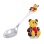 Toddler Silver Spoon with 'Teddy Bear'. Hypoallergenic 925/999 Silver, Hot Enamel