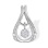 Dangle Diamond Cluster Pendant. 585 (14kt) White Gold