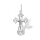 Diamond Orthodox Cross 'Godliness'. 'Virgin Mary's Tear' Series, 585 White Gold,