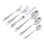English Style Silver Flatware (Set of 6). Hypoallergenic 830/999 Silver, Stainless Steel