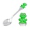 Toddler Silver Spoon with a Froggy. Hypoallergenic 925/999 Silver, Hot Enamel
