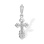 'IHЦI' Russian Cross Pendant for Children. 585 (14kt) White Gold
