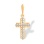 Protestant Cross with 16 Bezel-set Diamonds. 585 (14kt) Rose Gold
