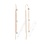 Diamond Station Threader Chain Earrings. Certified 585 (14kt) Rose Gold, Rhodium Detailing
