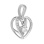 Swaying Diamond Heart Pendant in White Gold. View 2