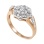 Art Deco-inspired diamond ring made of 14kt rose and white gold. View 2